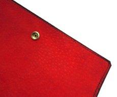 """画像9: """"JUTTA NEUMANN"""" Leather Wallet """"the Waiter's Wallet""""  -Suede-  color : Suede Black / Deep Orenge (9)"""