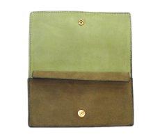 """画像5: """"JUTTA NEUMANN"""" Leather Wallet """"the Waiter's Wallet""""  -Suede-  color : Suede Green / Lime Green (5)"""