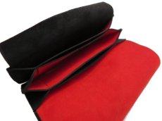 """画像8: """"JUTTA NEUMANN"""" Leather Wallet """"the Waiter's Wallet""""  -Suede-  color : Suede Black / Deep Orenge (8)"""