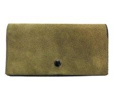 """画像2: """"JUTTA NEUMANN"""" Leather Wallet """"the Waiter's Wallet""""  -Suede-  color : Suede Green / Lime Green (2)"""
