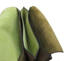 """画像9: """"JUTTA NEUMANN"""" Leather Wallet """"the Waiter's Wallet""""  -Suede-  color : Suede Green / Lime Green (9)"""