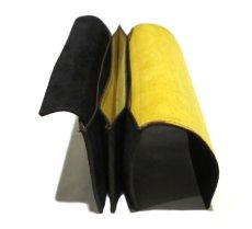 """画像6: """"JUTTA NEUMANN"""" Leather Wallet """"the Waiter's Wallet""""  -Suede-  color : Suede Black / Yellow (6)"""