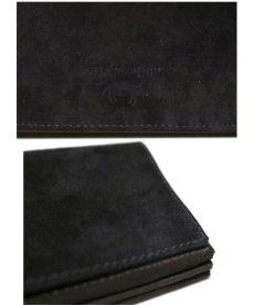"""画像9: """"JUTTA NEUMANN"""" Leather Wallet """"the Waiter's Wallet""""  -Suede-  color : Suede Black / Yellow (9)"""