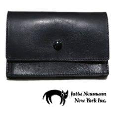 """画像1: """"JUTTA NEUMANN"""" Leather Wallet """"the Waiter's Wallet""""  Medium Size color : Black / Yellow (1)"""
