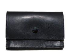 """画像2: """"JUTTA NEUMANN"""" Leather Wallet """"the Waiter's Wallet""""  Medium Size color : Black / Yellow (2)"""