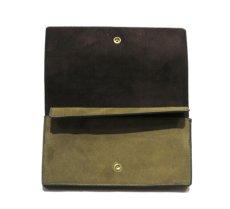 """画像4: """"JUTTA NEUMANN"""" Leather Wallet """"the Waiter's Wallet""""  -Suede-  color : Suede Green / Dark Brown (4)"""