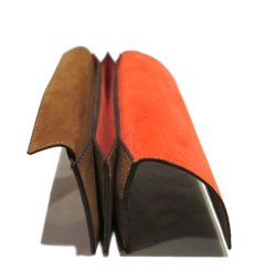 """画像6: """"JUTTA NEUMANN"""" Leather Wallet """"the Waiter's Wallet""""  -Suede-  color : Suede Brown / Orange (6)"""