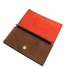 """画像9: """"JUTTA NEUMANN"""" Leather Wallet """"the Waiter's Wallet""""  -Suede-  color : Suede Brown / Orange (9)"""