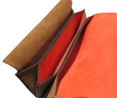 """画像7: """"JUTTA NEUMANN"""" Leather Wallet """"the Waiter's Wallet""""  -Suede-  color : Suede Brown / Orange (7)"""