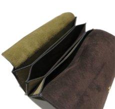 """画像7: """"JUTTA NEUMANN"""" Leather Wallet """"the Waiter's Wallet""""  -Suede-  color : Suede Green / Dark Brown (7)"""