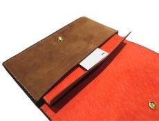 """画像8: """"JUTTA NEUMANN"""" Leather Wallet """"the Waiter's Wallet""""  -Suede-  color : Suede Brown / Orange (8)"""