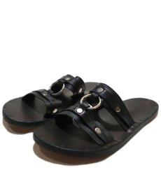 "画像2: JUTTA NEUMANN ""MICHAEL"" Leather Sandal BLACK size 7 D (2)"