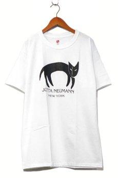 画像1: JUTTA NEUMANN Print T-Shirts White / Black size MEDIUM (1)