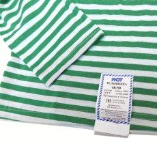画像3: DEAD STOCK  Russian Border L/S T-Shirts GREEN size 56-58 (3)