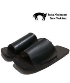 """画像1: JUTTA NEUMANN """"SAM"""" BLACK Leather Sandal size 7 D, 8 D, 9 D, 10 D (1)"""