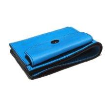 """画像4: """"JUTTA NEUMANN"""" Leather Wallet with Change Purse   color : Turquoise / Pink (4)"""