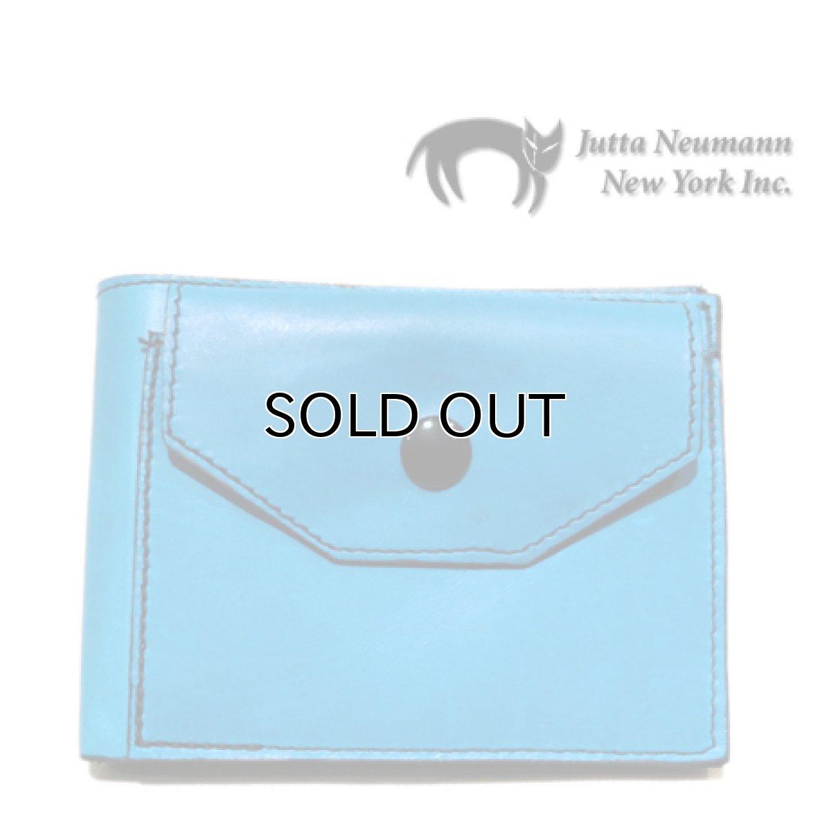 """画像1: """"JUTTA NEUMANN"""" Leather Wallet with Change Purse   color : Turquoise / Pink (1)"""