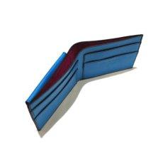 """画像6: """"JUTTA NEUMANN"""" Leather Wallet with Change Purse   color : Turquoise / Pink (6)"""