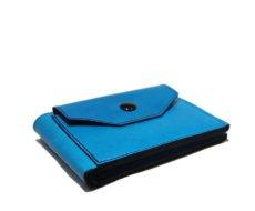 """画像3: """"JUTTA NEUMANN"""" Leather Wallet with Change Purse   color : Turquoise / Pink (3)"""