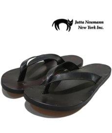 """画像1: JUTTA NEUMANN """"JAMES"""" Leather Sandal BLACK size 7 D, 8 D, 9 D, 10 D (1)"""