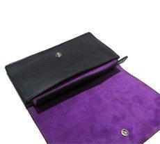 """画像8: """"JUTTA NEUMANN"""" Leather Wallet """"the Waiter's Wallet""""  color : Black / Purple 長財布 (8)"""