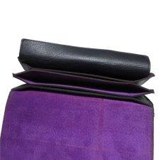 """画像7: """"JUTTA NEUMANN"""" Leather Wallet """"the Waiter's Wallet""""  color : Black / Purple 長財布 (7)"""