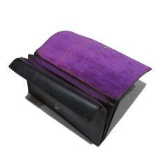 """画像6: """"JUTTA NEUMANN"""" Leather Wallet """"the Waiter's Wallet""""  color : Black / Purple 長財布 (6)"""