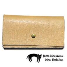 """画像1: """"JUTTA NEUMANN"""" Leather Wallet """"the Waiter's Wallet""""  color : Camel Shine / Lavender 長財布 (1)"""