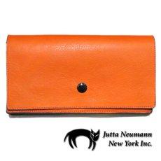 """画像1: """"JUTTA NEUMANN"""" Leather Wallet """"the Waiter's Wallet""""  color : Orange / Purple 長財布 (1)"""