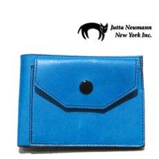 """画像1: """"JUTTA NEUMANN"""" Leather Wallet with Change Purse   color : Turquoise / Yellow (1)"""