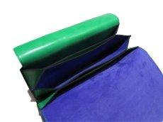 """画像7: """"JUTTA NEUMANN"""" Leather Wallet """"the Waiter's Wallet""""  color : Kelly Green / Violet 長財布 (7)"""