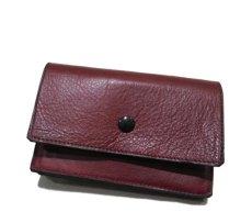 """画像2: """"JUTTA NEUMANN"""" Leather Wallet """"the Waiter's Wallet"""" Medium Size color : Burgundy / Yellow (2)"""