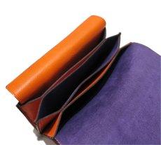 """画像9: """"JUTTA NEUMANN"""" Leather Wallet """"the Waiter's Wallet""""  color : Orange / Purple 長財布 (9)"""