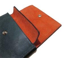 """画像7: """"JUTTA NEUMANN"""" Leather Wallet """"the Waiter's Wallet"""" Medium Size color : Patagonia / Orange (7)"""