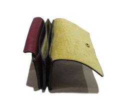 """画像6: """"JUTTA NEUMANN"""" Leather Wallet """"the Waiter's Wallet"""" Medium Size color : Burgundy / Yellow (6)"""
