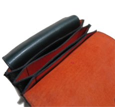 """画像9: """"JUTTA NEUMANN"""" Leather Wallet """"the Waiter's Wallet"""" Medium Size color : Patagonia / Orange (9)"""