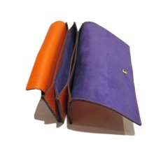 """画像8: """"JUTTA NEUMANN"""" Leather Wallet """"the Waiter's Wallet""""  color : Orange / Purple 長財布 (8)"""