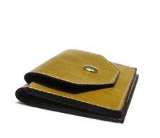"""画像4: """"JUTTA NEUMANN"""" Leather Card Case with Change Parse color : Mustard / Brick Red (4)"""