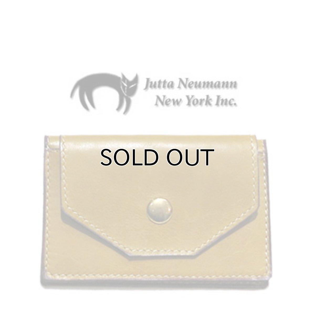 """画像1: """"JUTTA NEUMANN"""" Leather Card Case with Change Parse color : Mustard / Brick Red (1)"""