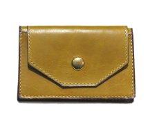 """画像2: """"JUTTA NEUMANN"""" Leather Card Case with Change Parse color : Mustard / Brick Red (2)"""