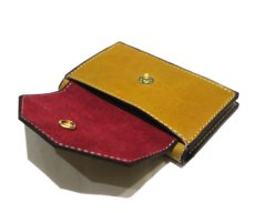 """画像8: """"JUTTA NEUMANN"""" Leather Card Case with Change Parse color : Mustard / Brick Red (8)"""