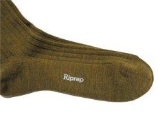 """画像4: Riprap """"NZ MERINO LONG HOSE SOCKS"""" color : DRIED LEAF size FREE (25~27cm) (4)"""
