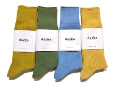 "画像5: decka quality socks ""144N PLAIN SOCKS"" made in JAPAN ONE SIZE color : BANANA (5)"