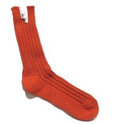 """画像3: decka quality socks """"HEAVY WAIGHT PLAIN SOCKS"""" made in JAPAN ONE SIZE color : ORANGE (3)"""