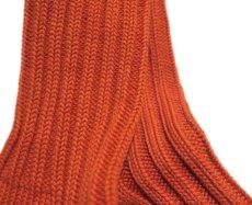 """画像4: decka quality socks """"HEAVY WAIGHT PLAIN SOCKS"""" made in JAPAN ONE SIZE color : ORANGE (4)"""