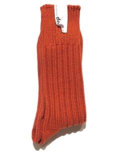 """画像1: decka quality socks """"HEAVY WAIGHT PLAIN SOCKS"""" made in JAPAN ONE SIZE color : ORANGE (1)"""