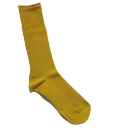 "画像3: decka quality socks ""144N PLAIN SOCKS"" made in JAPAN ONE SIZE color : YELLOW (3)"