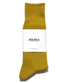 "画像2: decka quality socks ""144N PLAIN SOCKS"" made in JAPAN ONE SIZE color : YELLOW (2)"