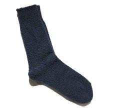 """画像4: decka quality socks """"WOOL BOUCLE SOCKS"""" made in JAPAN ONE SIZE color : BLUE (4)"""
