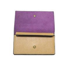"""画像5: """"JUTTA NEUMANN"""" Leather Wallet """"the Waiter's Wallet""""  color : Camel Shine / Lavender 長財布 (5)"""